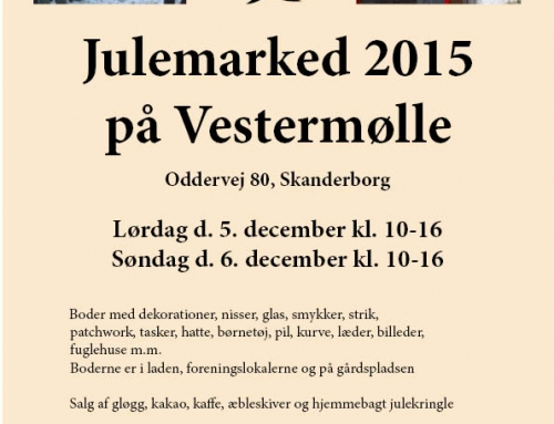 Julemarked på Vestermølle